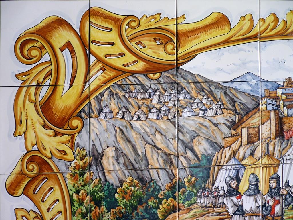 Mural de cer mica alfonso viii cer micas claur - Murales de ceramica ...