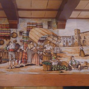 Mural de Cerámica Chimenea