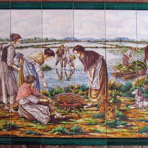 Mural de Cerámica Paelleras