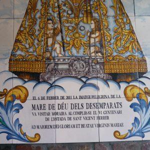 Mural de Cerámica Virgen Desamparados