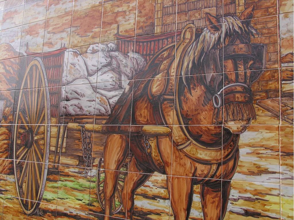 Mural de cer mica jornet cer micas claur - Murales de ceramica ...