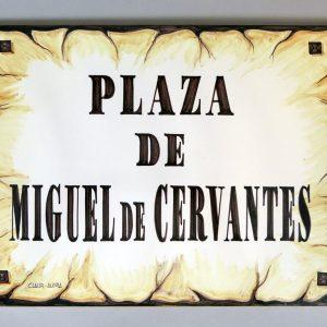 Placa de Calle 31 x 45 Pergamino