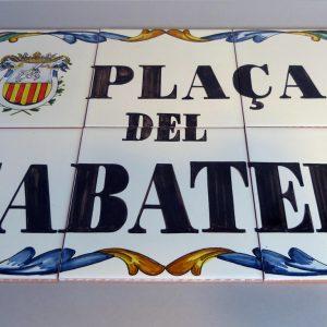Placa de Calle 45 x 30