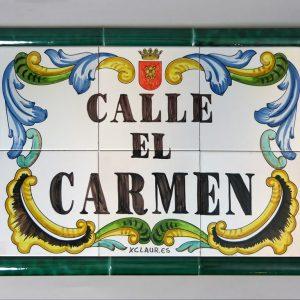 Placa de Calle 60 x 40 Verde Claur