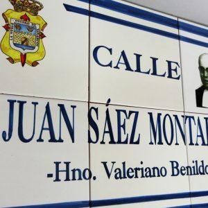 Placa de Calle con Foto