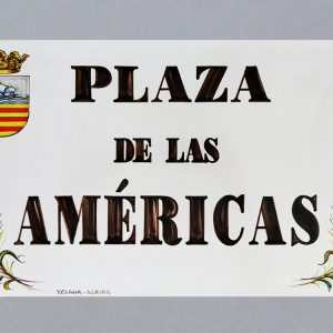 Placa de Calle 31 x 45 Trigo