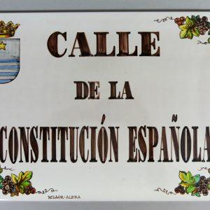 Placa de Calle 31 x 45 Uvas